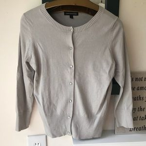 Express Design Studio Women S Light Gray Cardigan